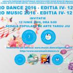 EURO MUSIC DANCE: 12 iunie 2016 – Editia a IV-a
