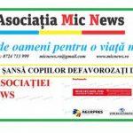 """Asociația Mic News: """"Dă-le o şansă copiilor defavorizaţi din mediul rural"""""""