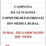 Colegii de la Mic News își serbează 7 ani de activitate cu o nouă campanie umanitară!