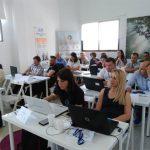 """Membrii Asociației """"Paradigme Educaționale"""" participă la prima zi de formare în Spania, El Rompido, la Inercia Digital."""